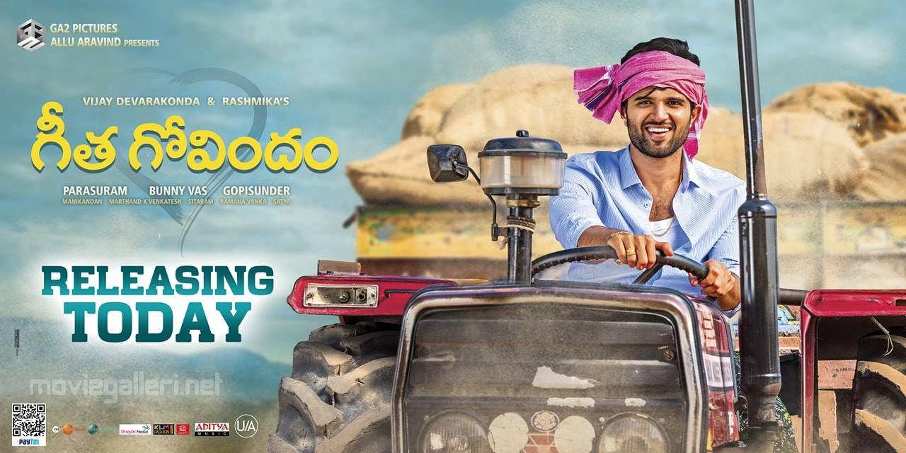 Vijay Devarakonda Geetha Govindam Movie Release Today Posters