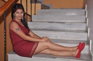 Telugu Actress Geetanjali Hot Pics in Red Dress