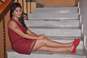 Telugu Actress Geetanjali Thasya Hot Pics in Red Dress