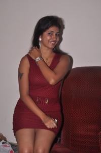 Telugu Actress Geethanjali in Red Dress Hot Pics