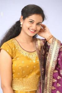 Actress Geethika in Churidar Photos @ Batch Trailer Launch
