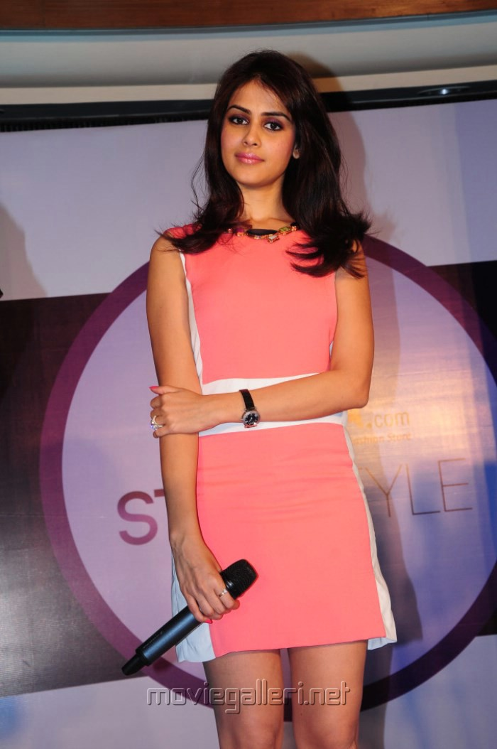 Picture 451730 | Actress Genelia in Pink Dress @ Myntra ...