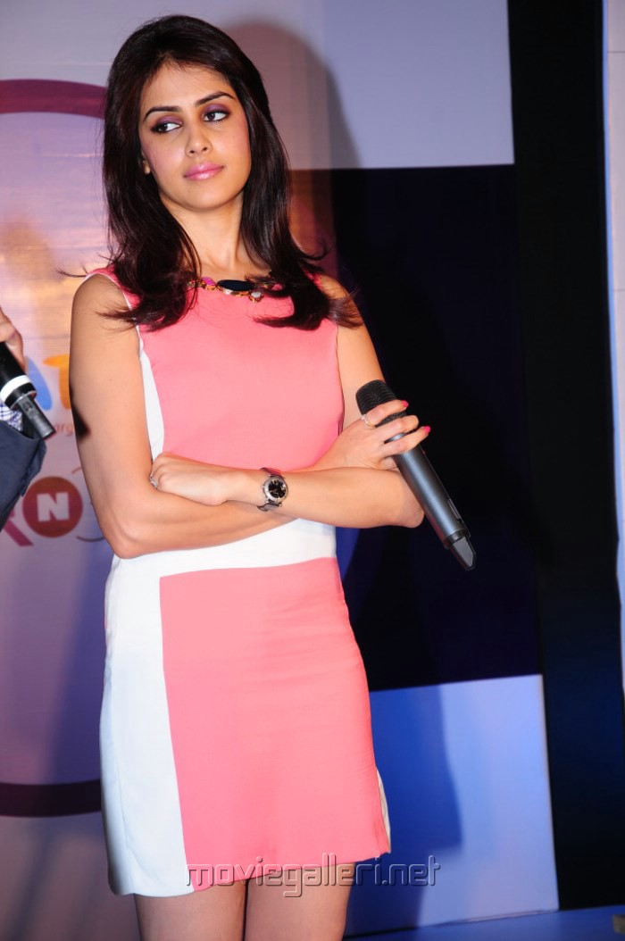 Picture 451738 | Actress Genelia in Pink Dress @ Myntra ...