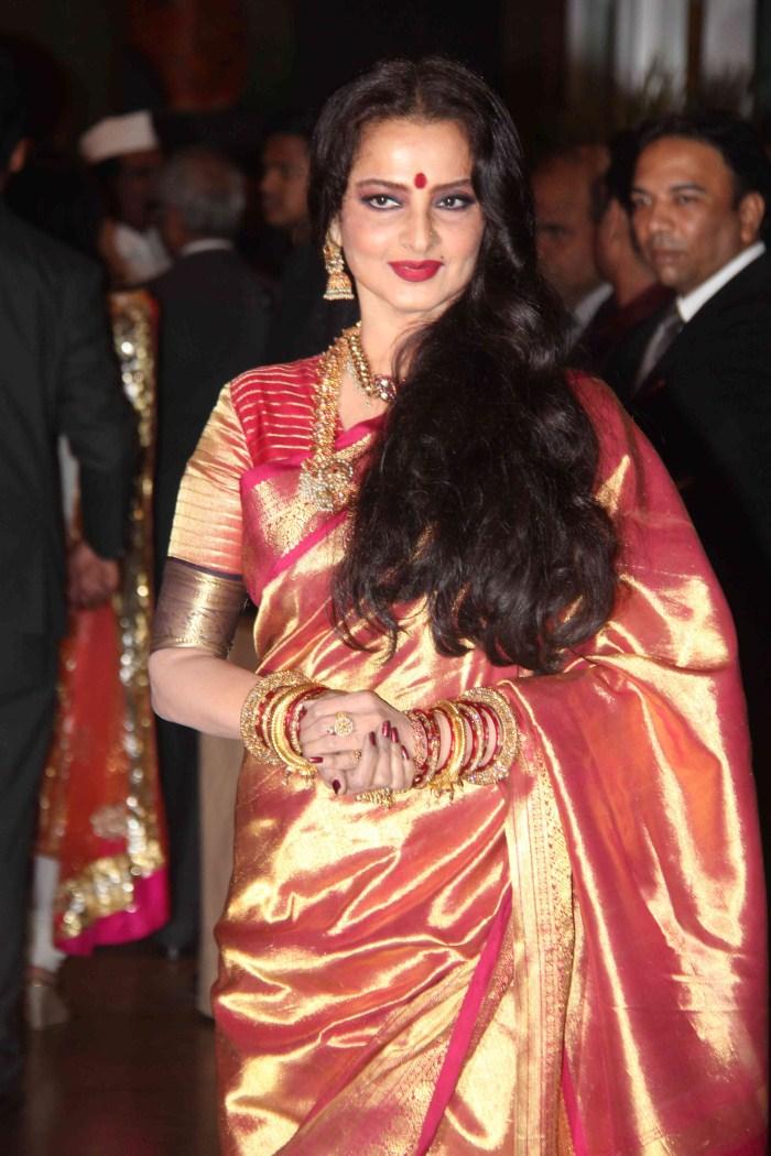 picture 165271 actress rekha genelia wedding reception