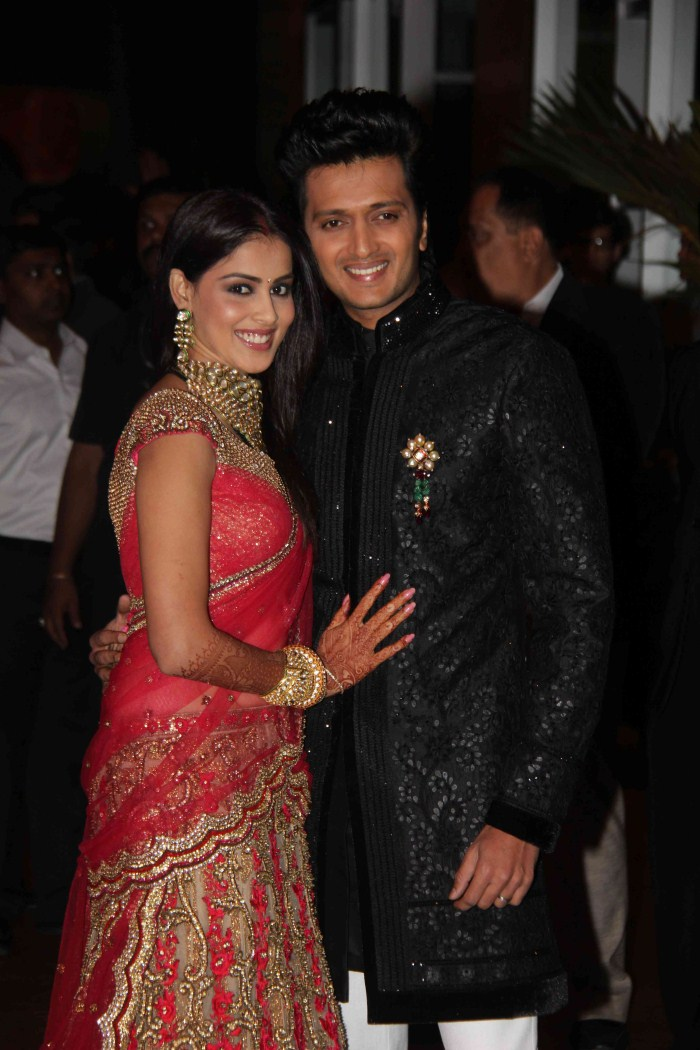 Actress Genelia Wedding Reception Stills