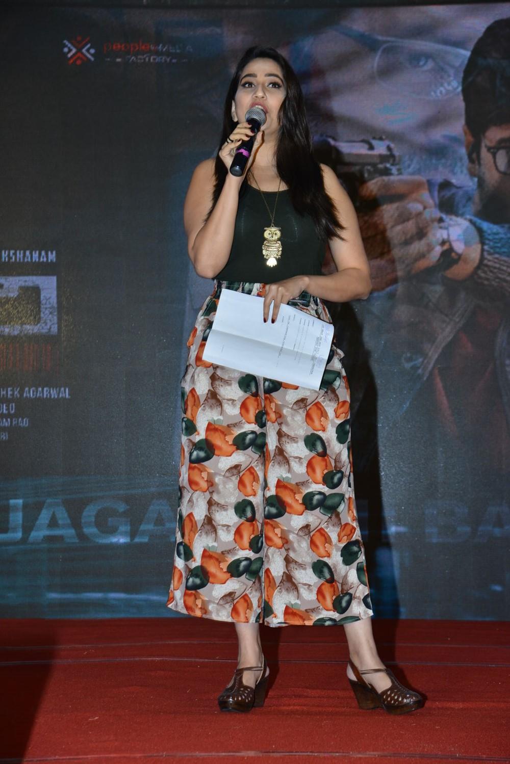 Manjusha @ Goodachari Movie Thanks Meet Images