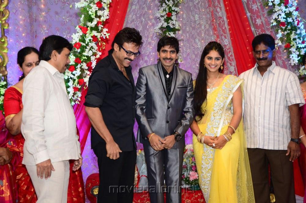 Venkatesh at Director Gopichand Malineni Wedding Reception PhotosVenkatesh Marriage Photos