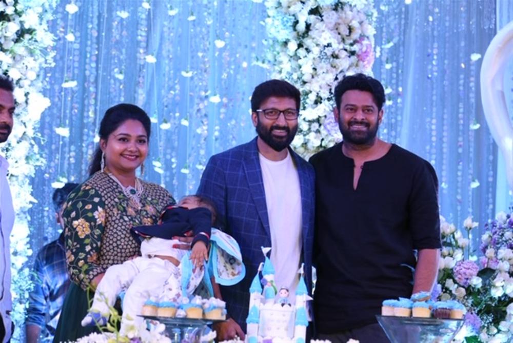 Prabhas @ Gopichand's youngest son Viyaan's 1st Birthday Celebrations Stills