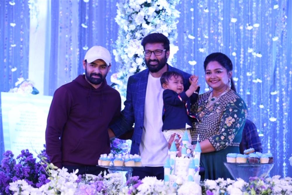 Ram @ Gopichand's youngest son Viyaan's 1st Birthday Celebrations Stills
