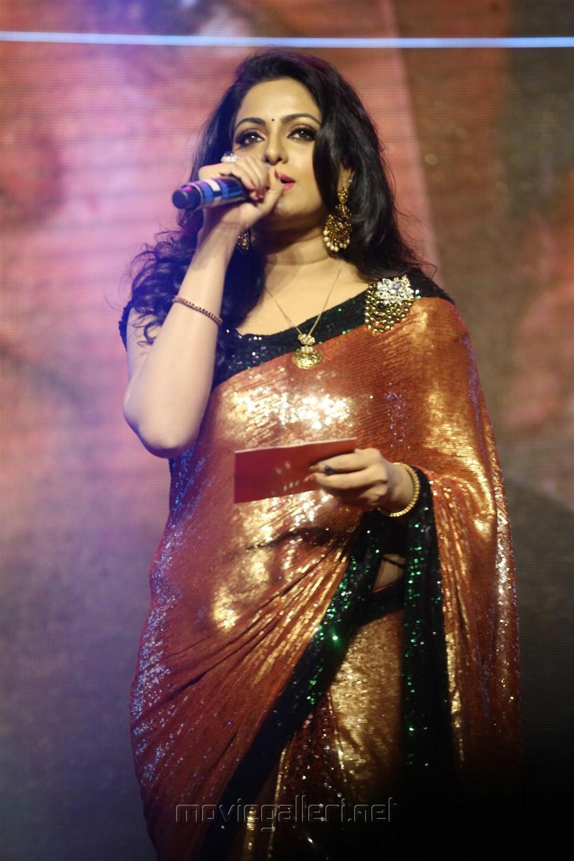 Anchor Udaya Bhanu @ Goutham Nanda Audio Launch Stills