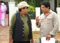 Brahmanandam, Dasarath at Greeku Veerudu Shooting Spot Stills
