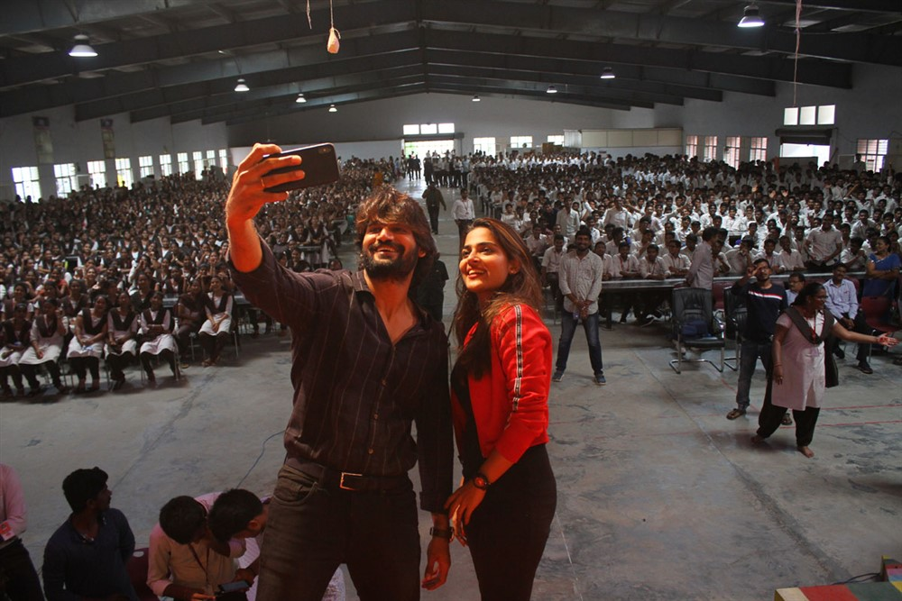 Kartikeya, Anagha @ Guna 369 Promotional Tour at RVR & JC College of Engg Guntur Photos