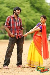 Sidhu, Rashmi Gautam in Guntur Talkies Movie New Images