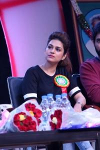 Shraddha Das @ Guntur Talkies Team at TRR High School Anniversary Celebrations