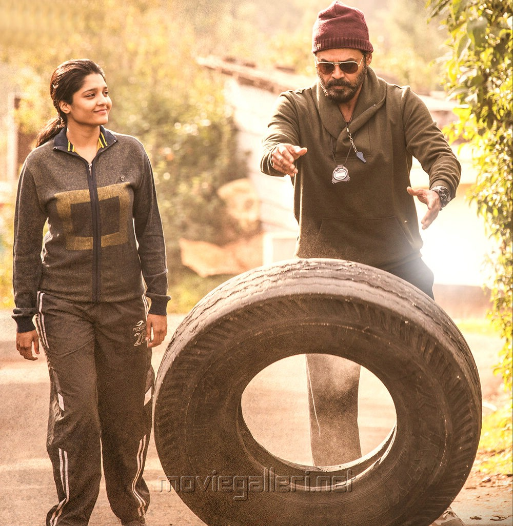 Ritika Singh, Venkatesh in Guru Movie Stills