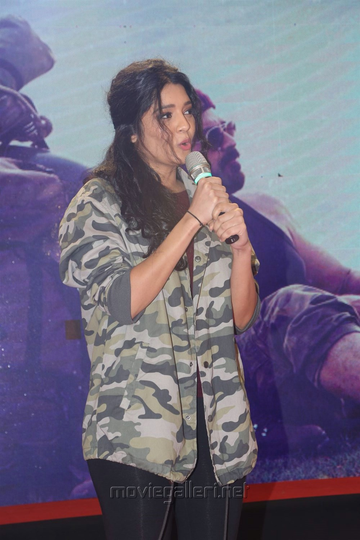 Actress Ritika Singh @ Guru Theatrical Trailer Launch Stills