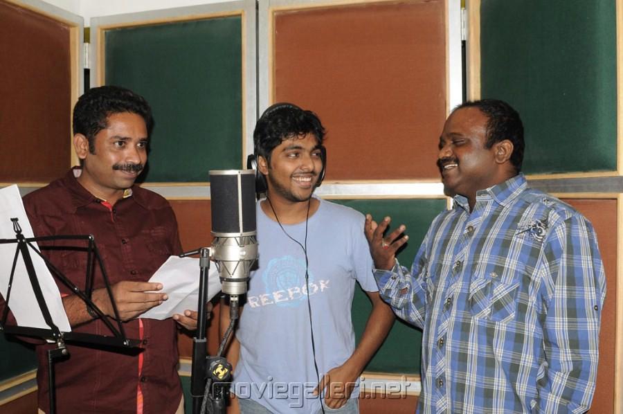 G V Prakash Neerparavai Song Recording