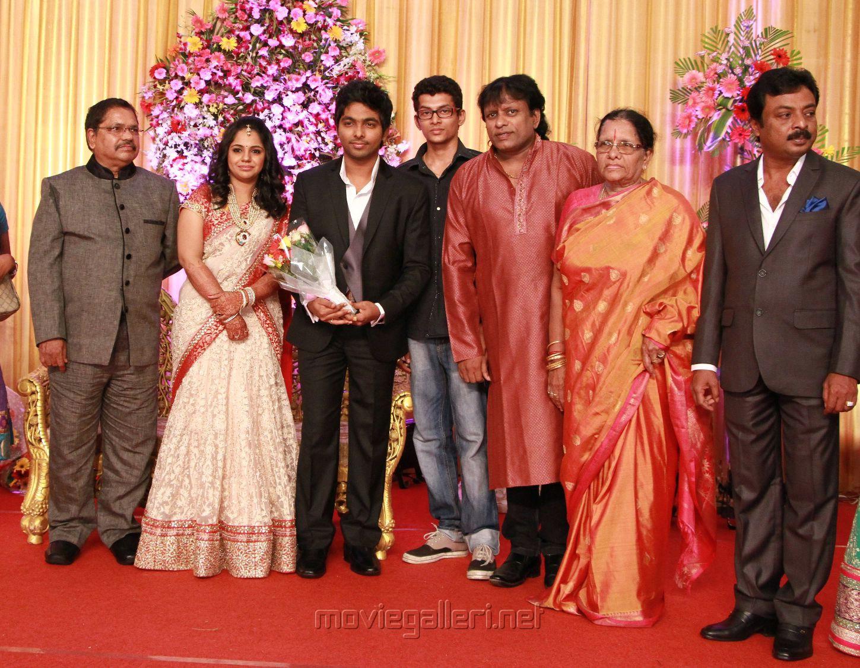 Gv Prakash Ar Saindhavi Wedding Reception Photos