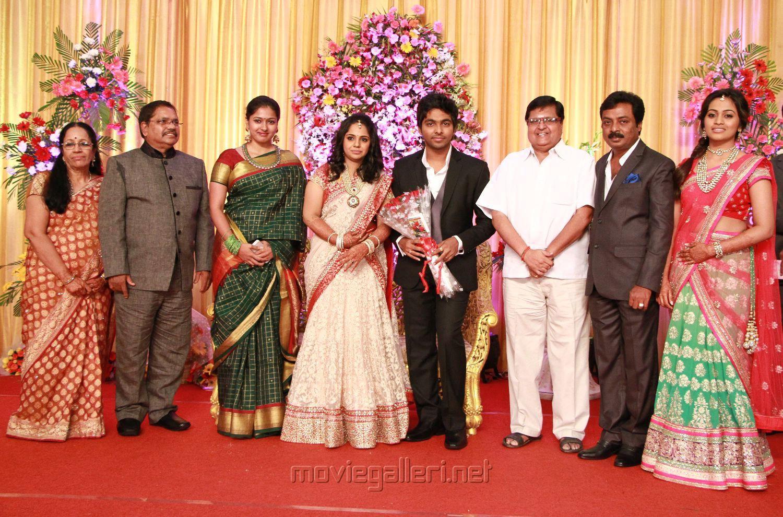 Gayatri Raghuram At GV Prakash Kumar Saindhavi Wedding Reception Photos