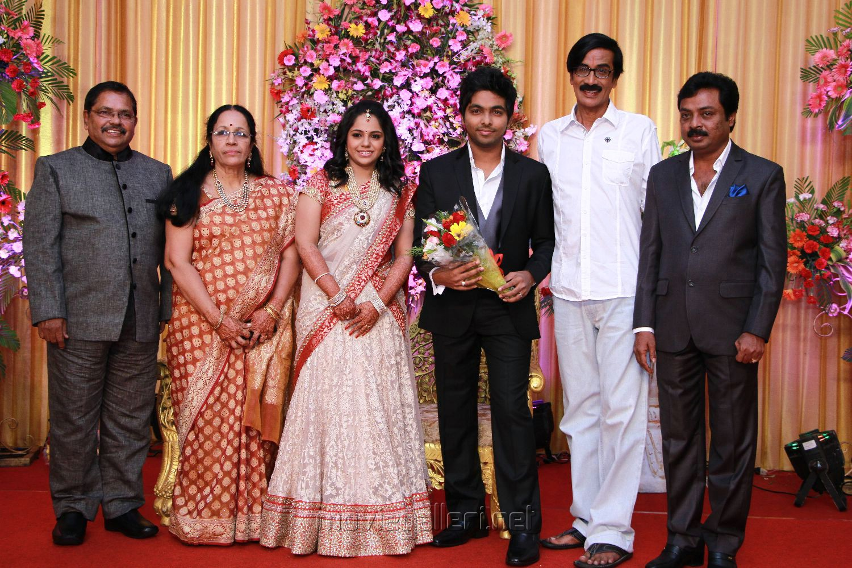 Maala At Gv Prakash Ar Saindhavi Wedding Reception Photos