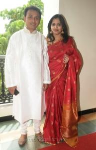 Singer Unnikrishnan & Wife Priya @ GV Prakash Saindhavi Marriage Photos