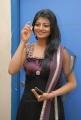 Actress Haasika Hot Stills in Very Dark Violet Color Dress