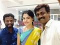 Pandiraj, Bindu Madhavi, Balasubramaniem @ Haiku Movie Shooting Spot Selfie Photos
