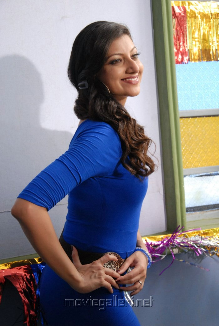 Actress Hamsa Nandini in Blue Dress Hot Photoshoot Pics
