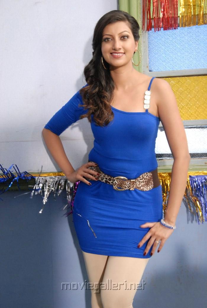 Actress Hamsa Nandini in Blue Dress Hot Photoshoot Pics