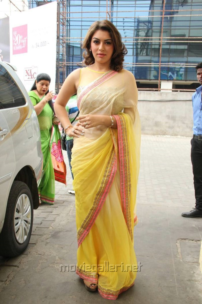 Actress Hansika Hot Saree Photos @ Aambala Audio Launch