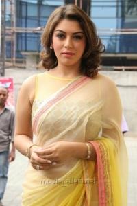 Actress Hansika Hot Saree Photos @ Aambala Audio Launch