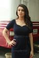 Actress Hansika Hot Stills in Dark Blue Dress