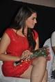 Actress Hansika Motwani Hot Thighs Photos in Red Dress