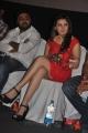 Actress Hansika Motwani Hot Legshow Photos in Red Dress