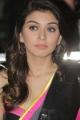 Actress Hansika Saree Photos in Sleeveless Blouse
