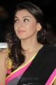 Actress Hansika Saree with Sleeveless Blouse Photos