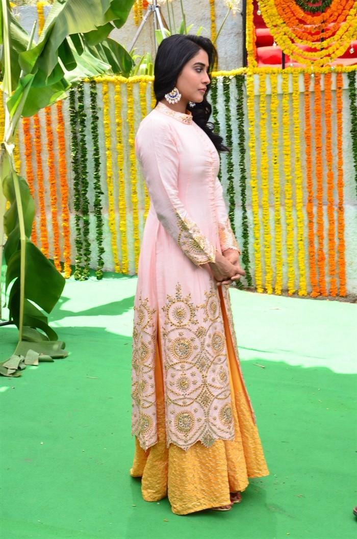 Actress Regina Cassandra @ Hare Rama Hare Krishna Movie Opening Stills