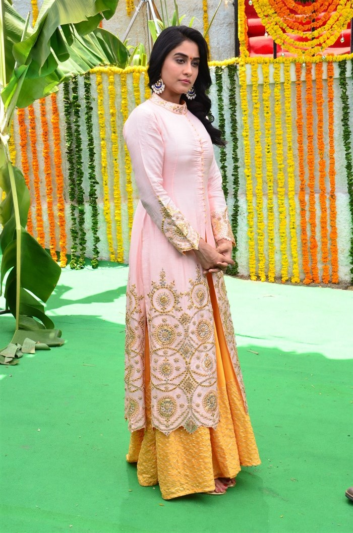 Actress Regina Cassandra @ Hare Rama Hare Krishna Movie Opening Stills