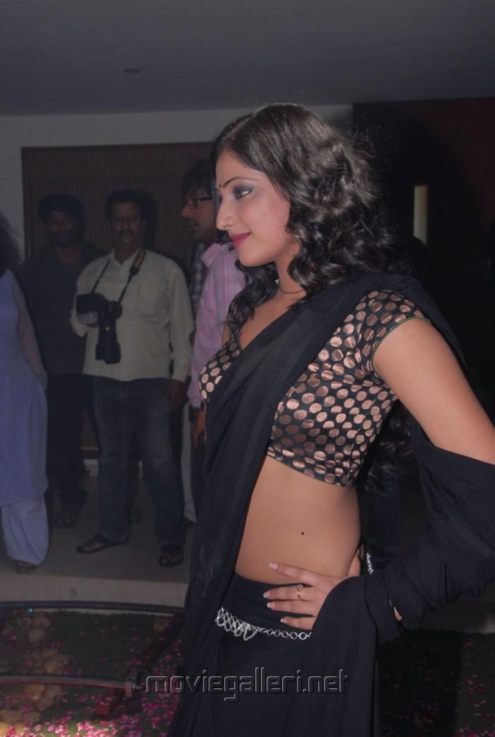 Actress Haripriya Hot Black Saree Pics at Abbayi Class Ammayi Mass Press Meet