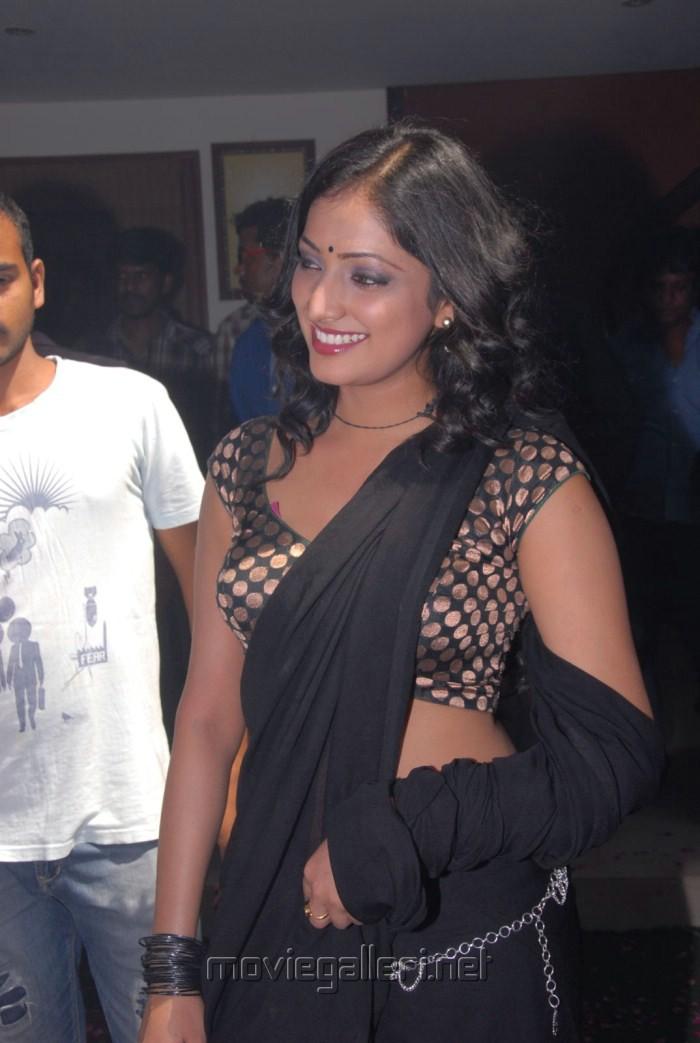 Actress Haripriya Hot Black Saree Pics at Abbai Class Ammai Mass Press Meet