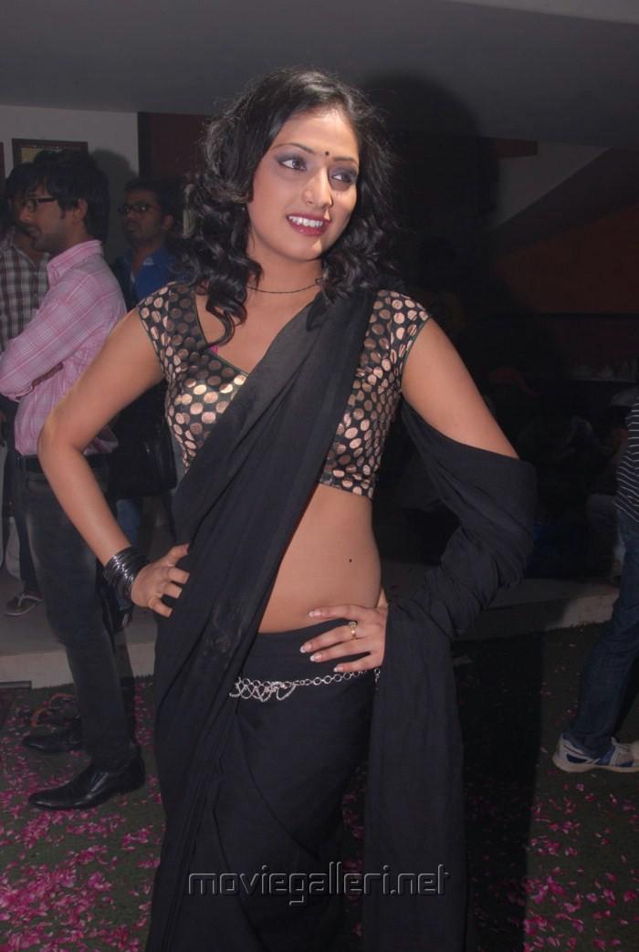 Actress Haripriya Hot Black Saree Stills at Abbai Class Ammai Mass Press Meet