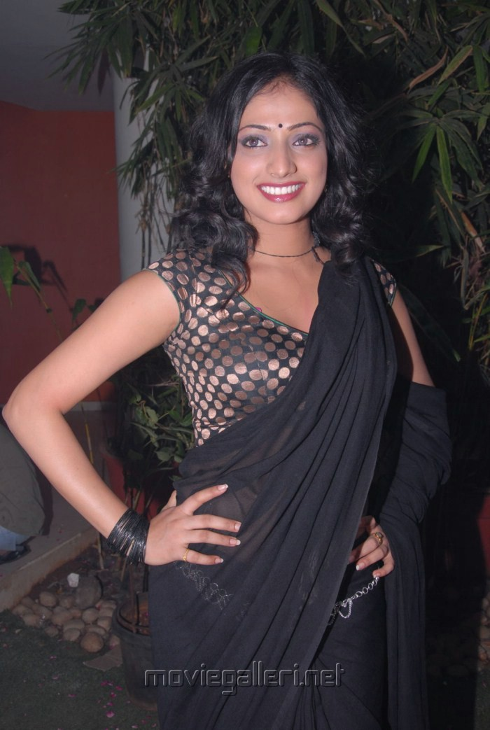 Actress Haripriya Hot Black Saree Pics at Abbai Class Ammai Mass Press Meet