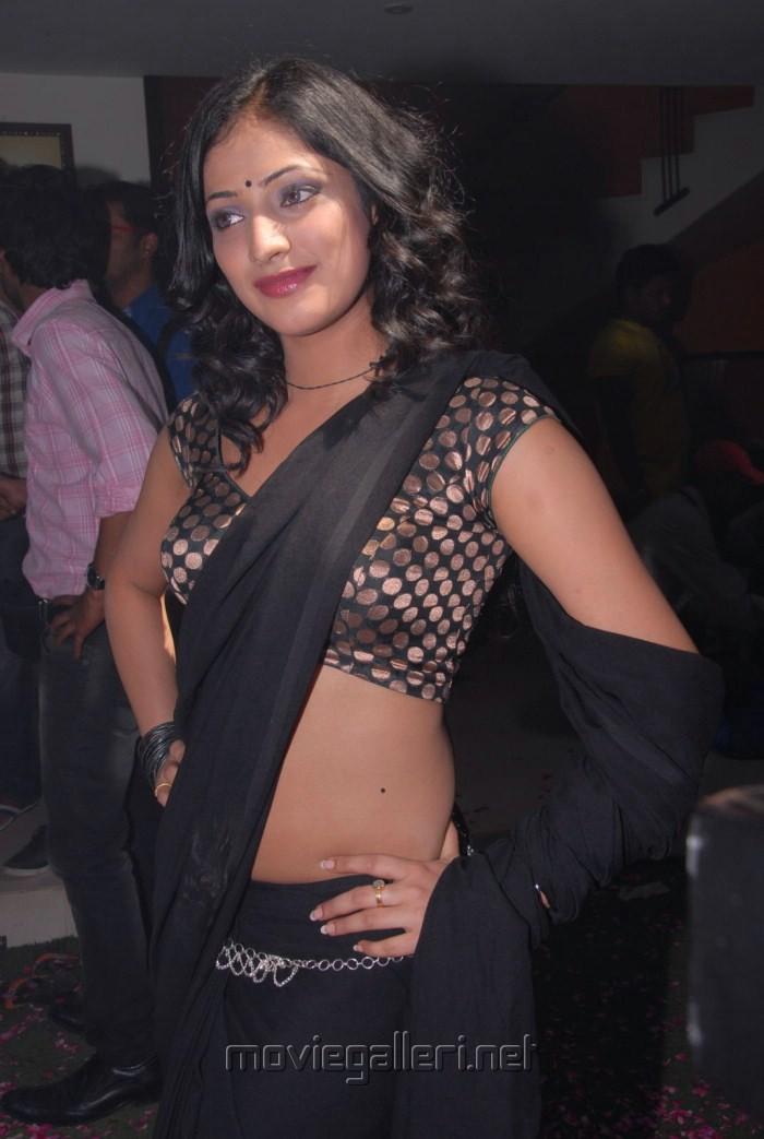 Actress Haripriya Latest Hot Black Saree Pics