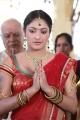 Galata Movie Actress Haripriya in Red Transparent Half Saree