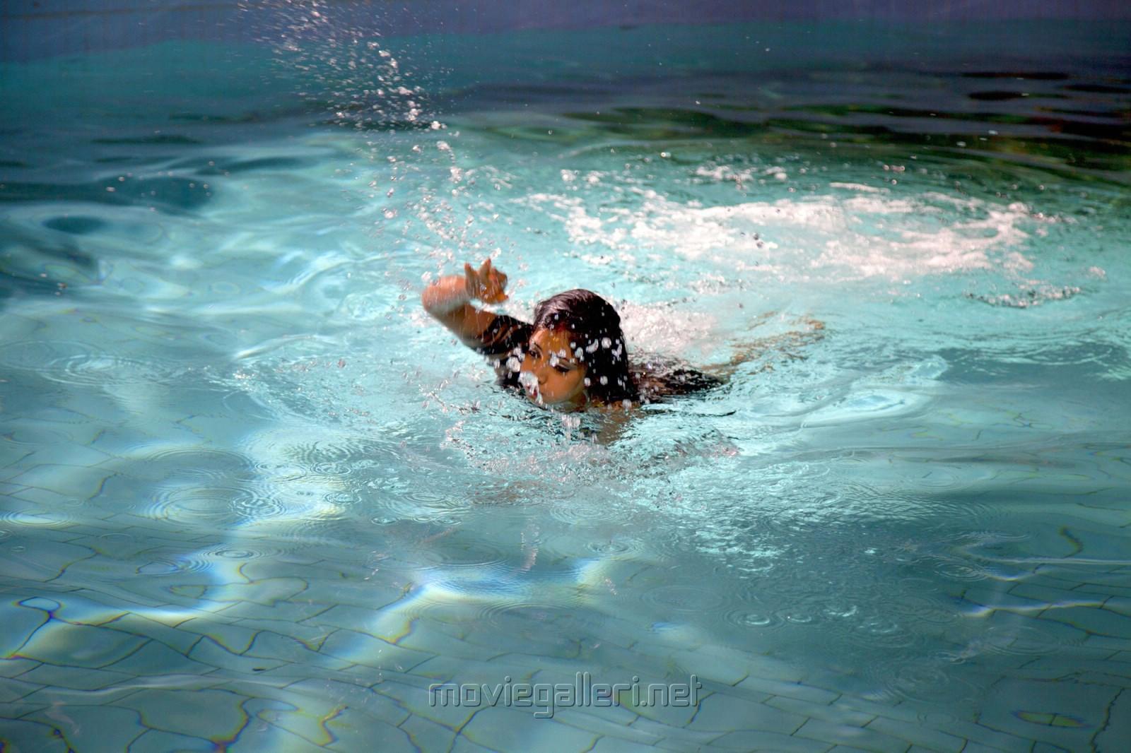 Actress Haripriya Hot Swimming Pool Pics in Atharvanam Movie