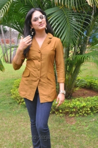 Haripriya New Photos in Light Brown Top & Blue Jeans
