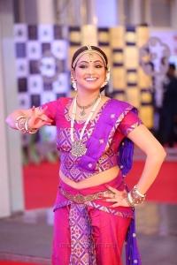 Telugu Actress Haripriya Stills @ Mirchi Music Awards South 2018