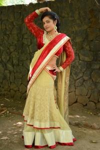 Actress Hashika Hot in Red Saree Pics