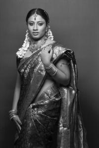 Tamil Actress Hashini in Saree Photoshoot Stills