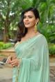 Actress Heebah Patel Saree New Photos